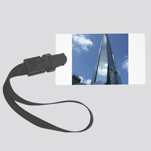 The Shard London skyscraper Large Luggage Tag